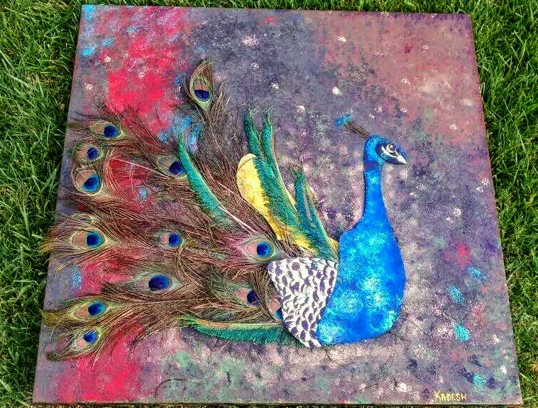 Peacock Art By Kadesh Carter