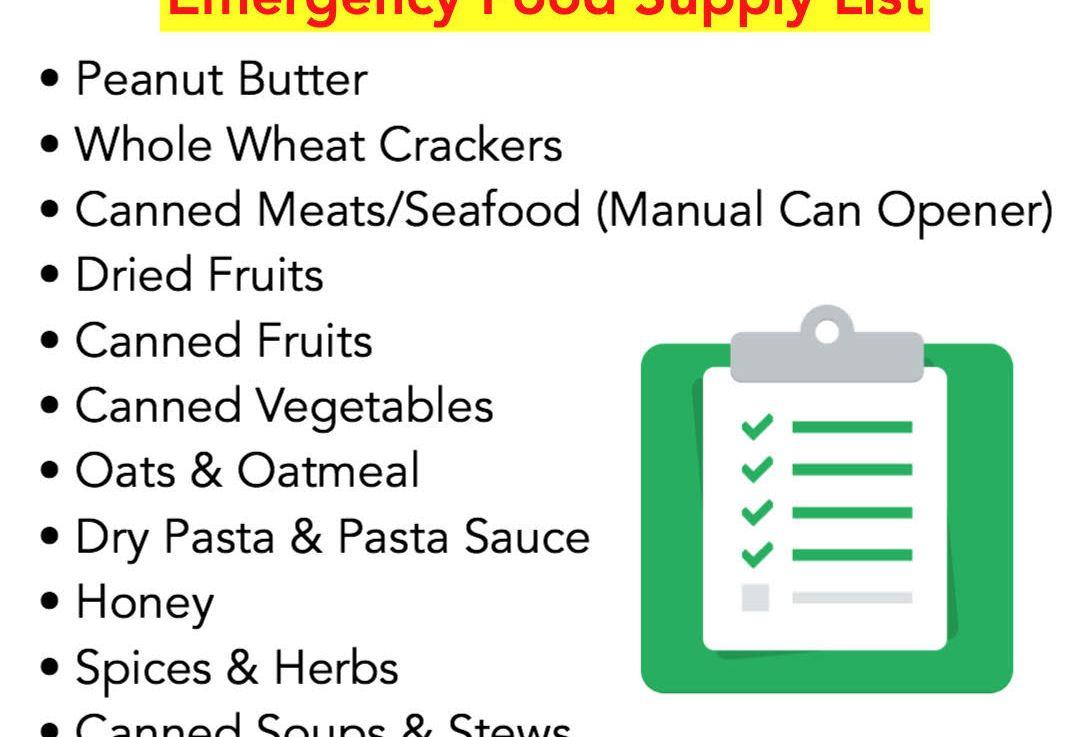 Pandemic Pantry Preparation: Emergency Food SupplyList