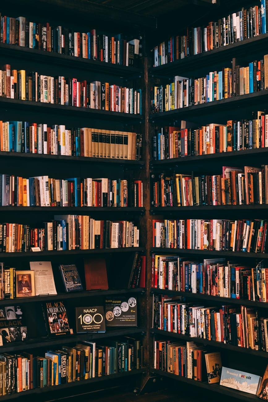 books filed neatly on shelves